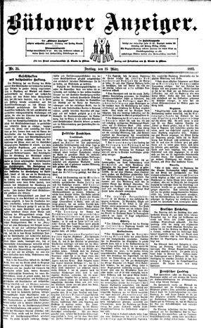 Bütower Anzeiger on Mar 25, 1892