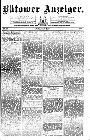 Bütower Anzeiger vom 01.04.1892