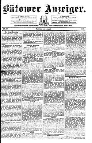 Bütower Anzeiger vom 05.04.1892