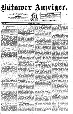 Bütower Anzeiger vom 12.04.1892