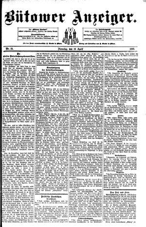 Bütower Anzeiger vom 19.04.1892