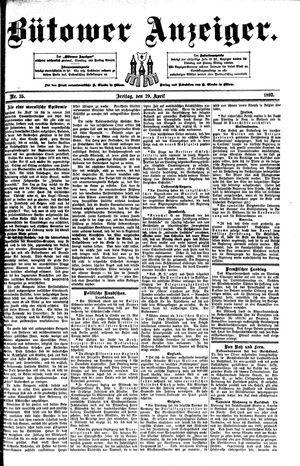 Bütower Anzeiger vom 29.04.1892