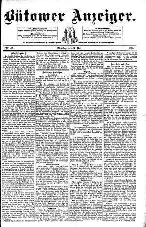 Bütower Anzeiger vom 24.05.1892