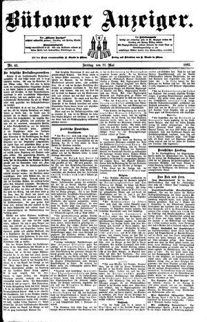 Bütower Anzeiger vom 27.05.1892
