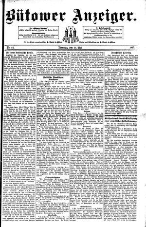 Bütower Anzeiger on May 31, 1892