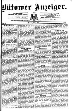 Bütower Anzeiger vom 07.06.1892