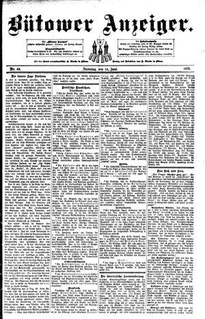 Bütower Anzeiger vom 14.06.1892