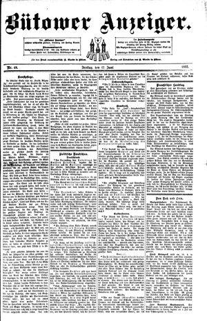 Bütower Anzeiger vom 17.06.1892