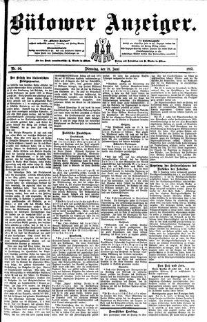 Bütower Anzeiger vom 21.06.1892