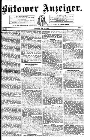 Bütower Anzeiger vom 28.06.1892