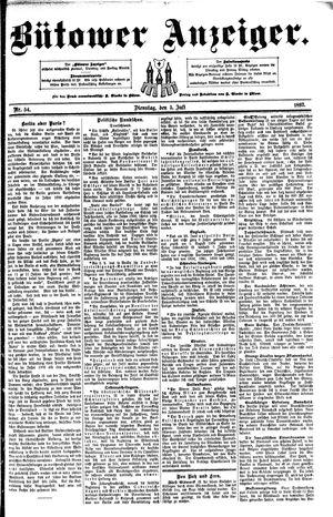 Bütower Anzeiger vom 05.07.1892