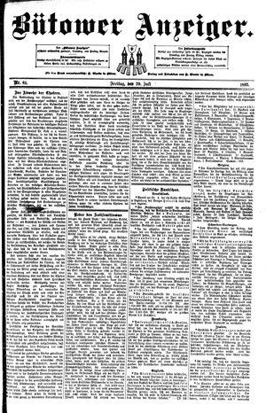 Bütower Anzeiger vom 29.07.1892