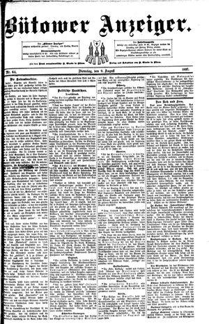 Bütower Anzeiger vom 09.08.1892