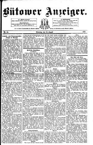 Bütower Anzeiger vom 23.08.1892