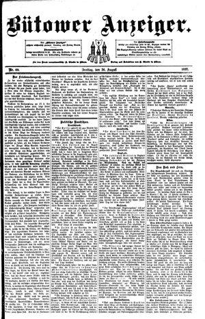 Bütower Anzeiger vom 26.08.1892