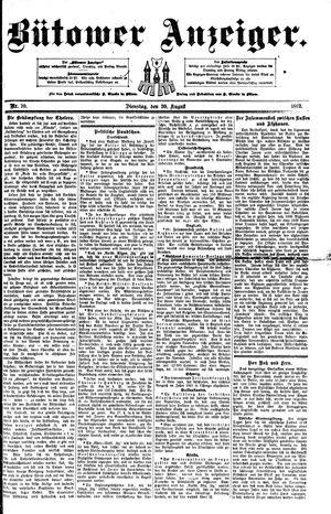 Bütower Anzeiger vom 30.08.1892