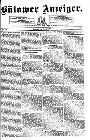 Bütower Anzeiger vom 06.09.1892