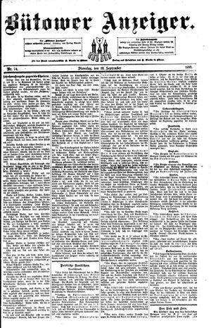 Bütower Anzeiger vom 13.09.1892