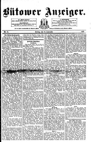 Bütower Anzeiger vom 16.09.1892