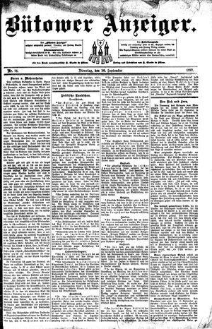 Bütower Anzeiger vom 20.09.1892
