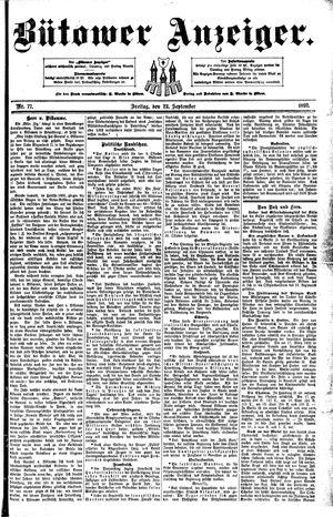 Bütower Anzeiger vom 23.09.1892