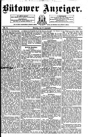 Bütower Anzeiger vom 27.09.1892