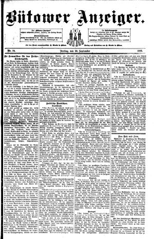 Bütower Anzeiger vom 30.09.1892