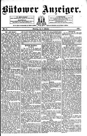 Bütower Anzeiger vom 11.10.1892