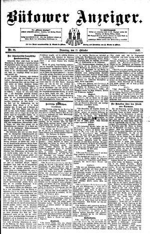Bütower Anzeiger vom 25.10.1892