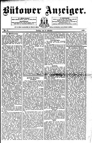 Bütower Anzeiger vom 28.10.1892