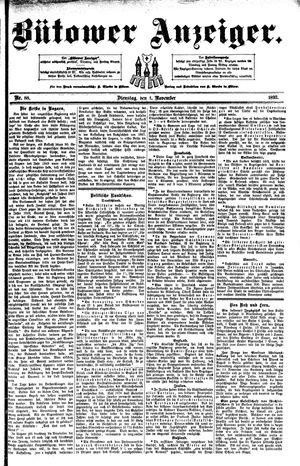 Bütower Anzeiger vom 01.11.1892