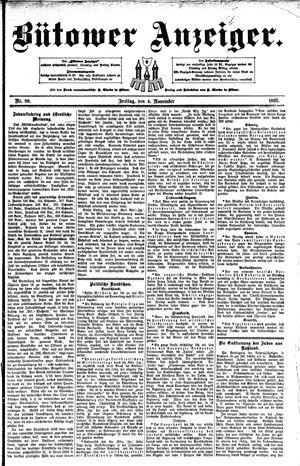 Bütower Anzeiger vom 04.11.1892