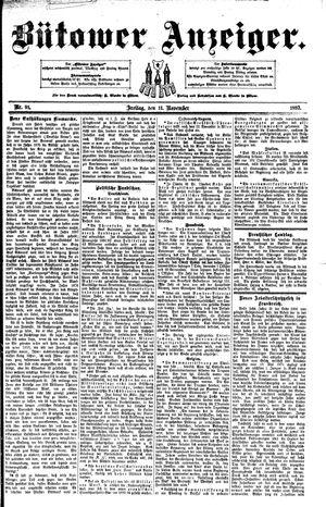 Bütower Anzeiger vom 11.11.1892