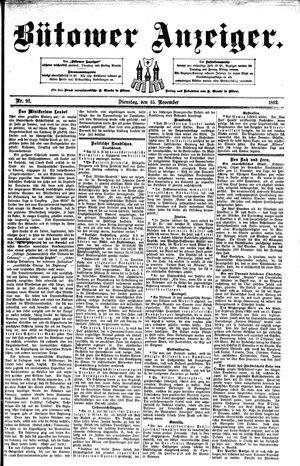 Bütower Anzeiger vom 15.11.1892