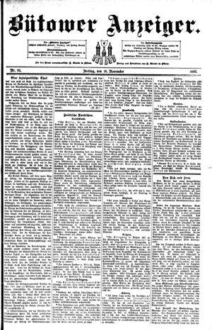Bütower Anzeiger vom 18.11.1892