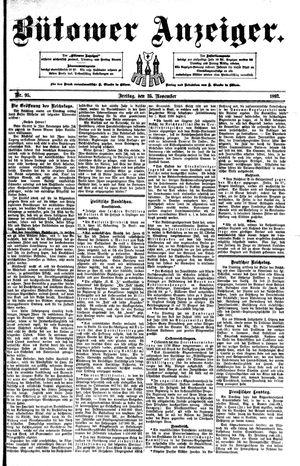 Bütower Anzeiger vom 25.11.1892