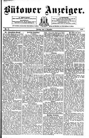 Bütower Anzeiger vom 02.12.1892
