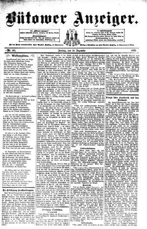 Bütower Anzeiger vom 23.12.1892