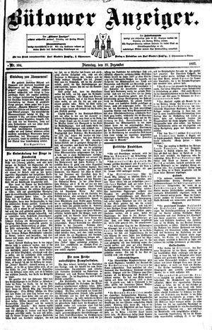 Bütower Anzeiger vom 27.12.1892