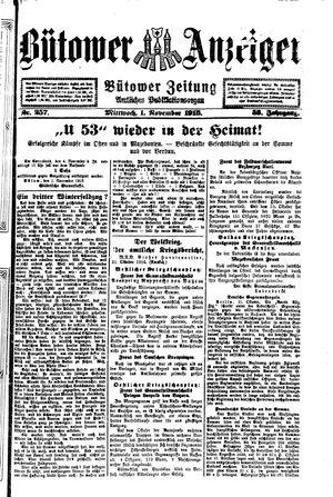 Bütower Anzeiger vom 01.11.1916