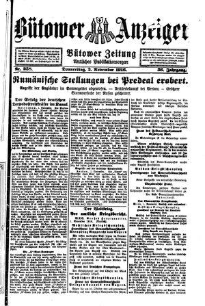 Bütower Anzeiger vom 02.11.1916