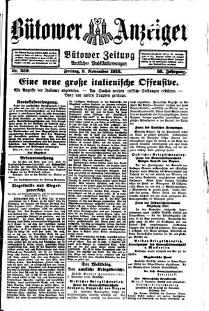 Bütower Anzeiger vom 03.11.1916