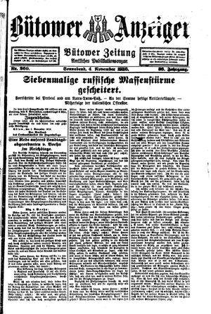 Bütower Anzeiger vom 04.11.1916