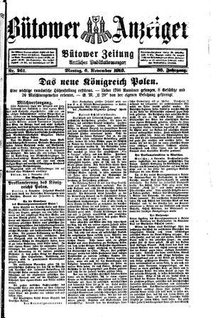 Bütower Anzeiger vom 06.11.1916