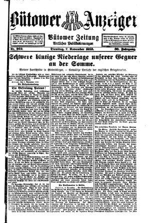Bütower Anzeiger vom 07.11.1916