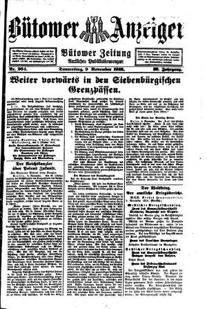 Bütower Anzeiger vom 09.11.1916