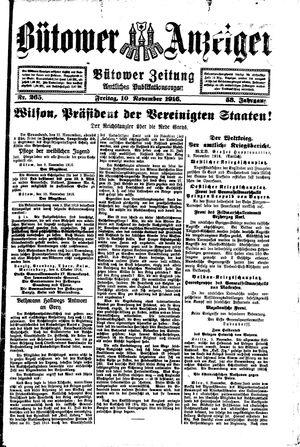Bütower Anzeiger vom 10.11.1916