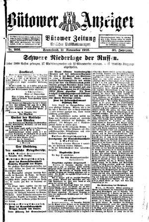 Bütower Anzeiger vom 11.11.1916