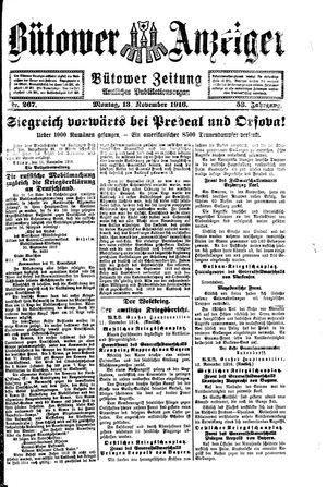 Bütower Anzeiger vom 13.11.1916