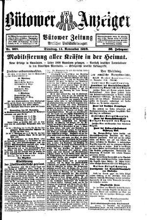 Bütower Anzeiger vom 14.11.1916